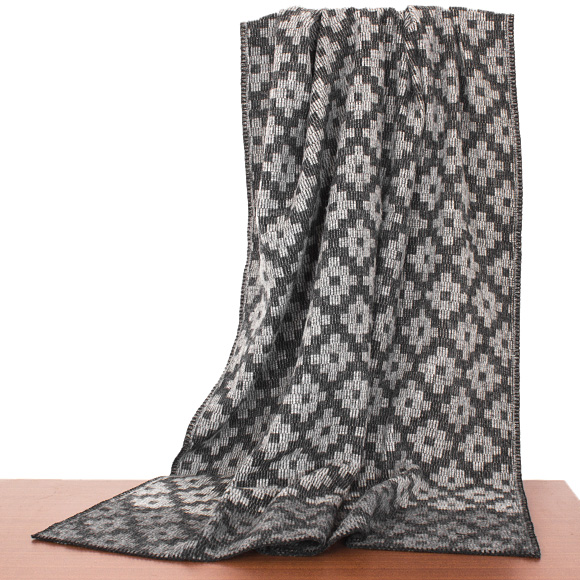 クリッパン Klippan Wool Blanket Rug Throw Gray Clic Throws Marrakech 2264 01 Grey