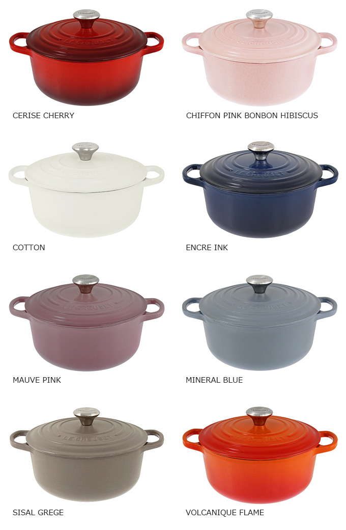 Le Creuset Pot Roast Rondo Round Case Roll Cerole Oven 2117720 20 Cm 6 Colors