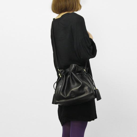 Loewe LOEWE bag FLAMENCO 30 [Flamenco 30] women's 2-WAY shoulder / handbag black 380 82 H38 1100 BLACK