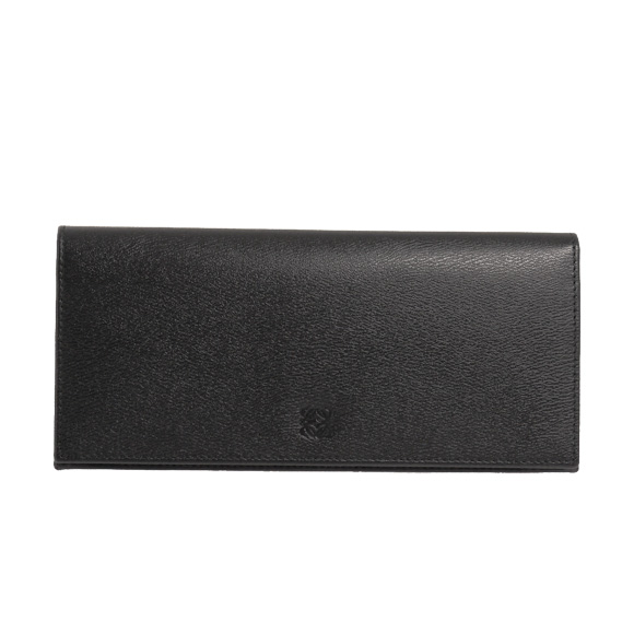 Loewe LOEWE wallet TEXTURE LEATHER LONG HORIZONTAL WALLET texture leather longhorizontalworrett mens wallets with loose change into black 103 30E978 1398 BLACK/OXBLOOD