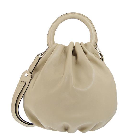 에 베 LOEWE 가방 여성용 2WAY 핸드백 BOUNCE SMALL BAG [반송 가방] 애쉬 베이지색 332 87 L40 1190 ASH