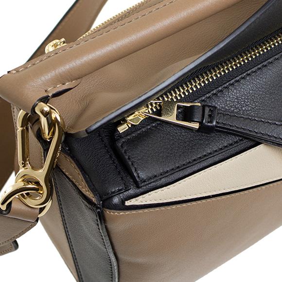 Loewe LOEWE bag ladies bag 2-WAY PUZZLE SMALL BAG black x hazelnut x ash beige bu322 30 UK79 8931 BLACK/HAZELNUT/ASH