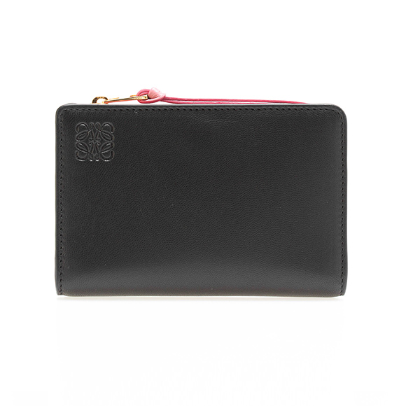 Zip Around Wallet in Black and Candy Nappa Loewe kKsDEoaGLN