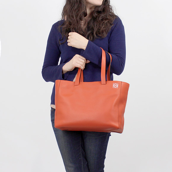 Loewe LOEWE ladies tote bag EAST WEST SHOPPER SOFT [East West shopper, coral Orange 308 20 K86 7130 CORAL