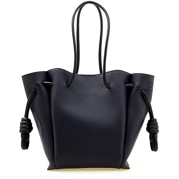 ロエベ LOEWE バッグ レディース トートバッグ ミッドナイトブルー FLAMENCO KNOT TOTE SMALL BAG [フラメンコノット] 321 12 T31 LE 5605 MIDNIGHT BLUE/BLACK【A4】