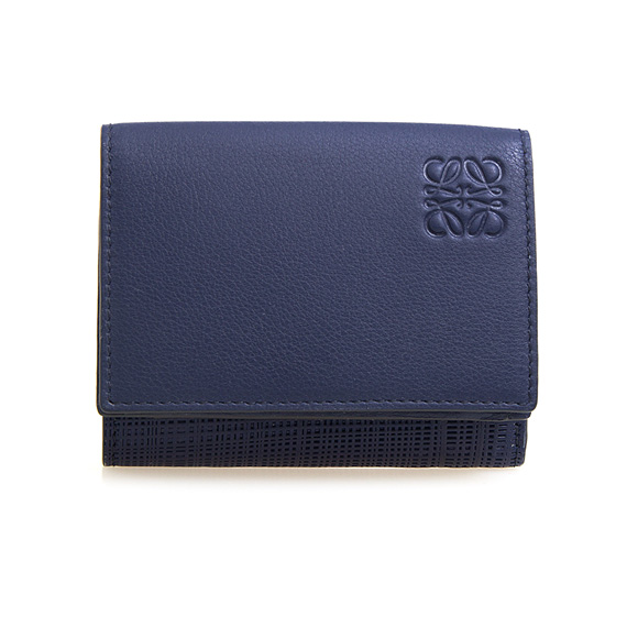 ロエベ LOEWE 財布 レディース 三つ折り財布 ミニ財布 ネイビーブルー TRIFOLD WALLET 101 88 S26 5110 NAVY BLUE