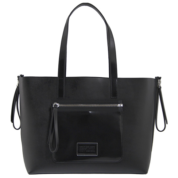 标记经由标记雅各布MARC BY MARC JACOBS女士大手提包黑色Zip It Saffiano Zipper Tote[jippuittosafiano]M0007251 001 BLACK