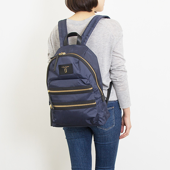 ee9b1d23cf Mark Jacobs MARC JACOBS Lady s rucksack A4 backpack midnight blue NYLON BIKER  BACKPACK  nylon bikie backpack  M0008296 415 MIDNIGHT BLUE
