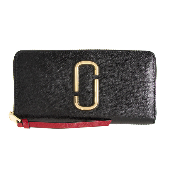 Snapshot Standard Continental Wallet in Black and Chianti Split Cow Leather Marc Jacobs lY3BRxWY