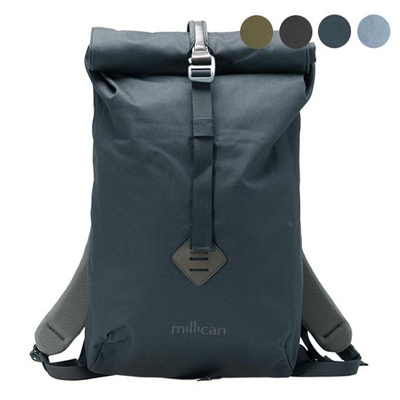 ミリカン MILLICAN バッグ バックパック グラファイトグレー SMITH THE ROLL PACK 15L M014GT GRAPHITE 【A4】【英国】