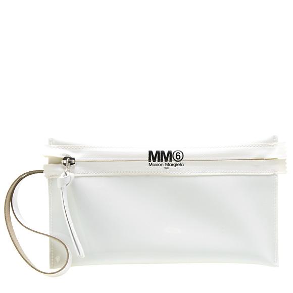 MM6 メゾンマルジェラ MAISON MARGIELA レディース ポーチ/クラッチバッグ ホワイト POCHETTE IN PVC S54WF0031 PS721 961 WHITE