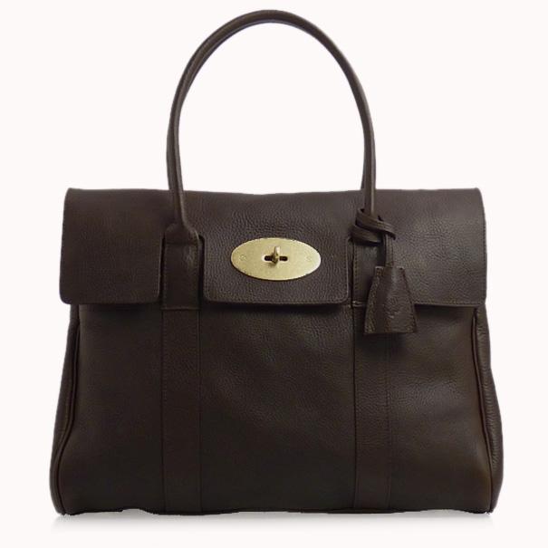 MULBERRY Ladies Handbag BAYSWATER HH5988_342 F130 CHOCOLATE [W-K] [fs01gm]