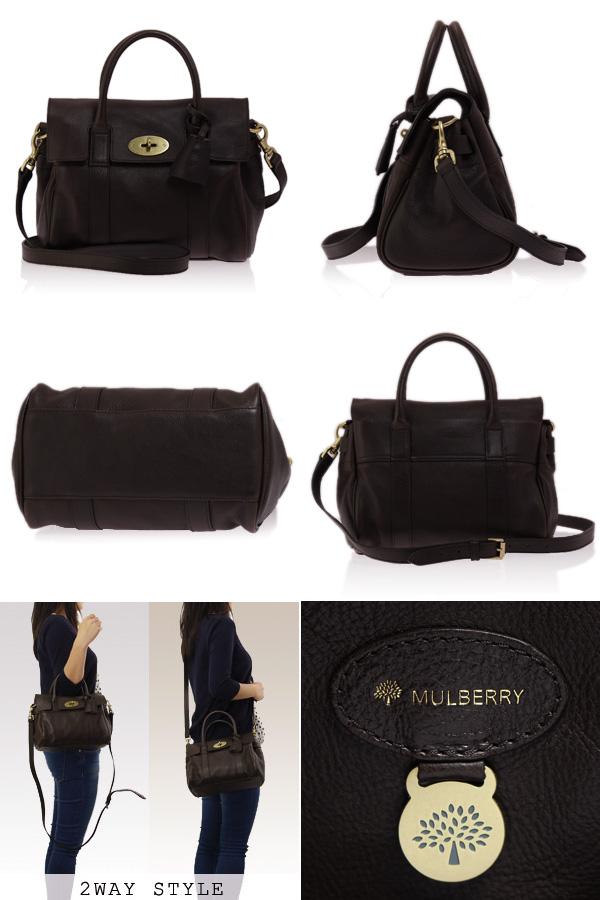 MULBERRY/멀 버 리 가방 스몰 베이스 워터 여성용 2WAY 핸드백 SMALL BAYSWATER 초콜렛 HH8147_342 F612 CHOCOLATE-BRASS