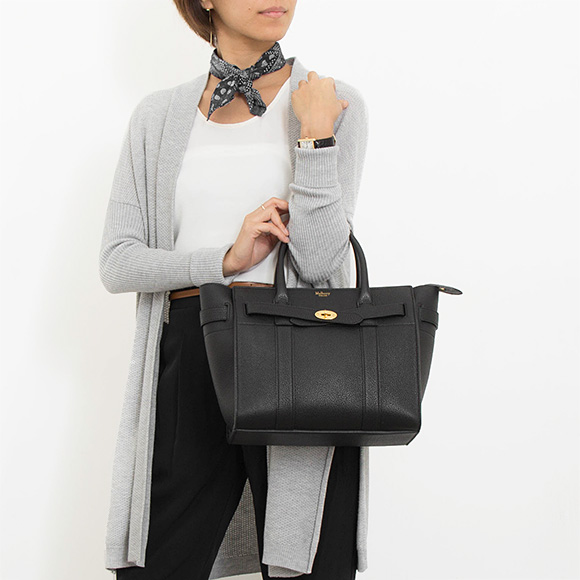 11b9bb2fe7ba Circle berry MULBERRY bag Bayes water Lady s handbag SMALL ZIPPED BAYSWATER  black HH4406 205A 100 BLACK