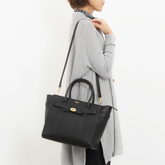 Circle berry MULBERRY bag Bayes water Lady s handbag SMALL ZIPPED BAYSWATER  black HH4406 205A 100 BLACK db0cdd4e521a1