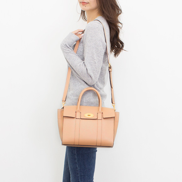 Circle berry MULBERRY bag Bayes water Lady s handbag SMALL BAYSWATER Rose  water HH3930 205 J633 ROSEWATER 829c1734d25cd