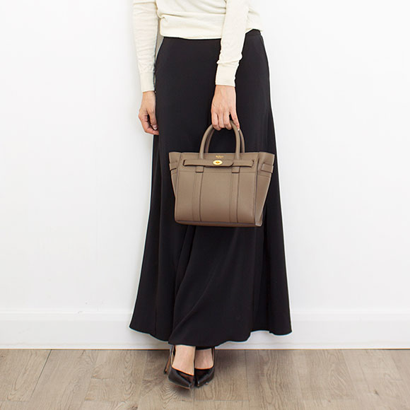 3264e04392f7 Circle berry MULBERRY bag Bayes water Lady s 2WAY handbag MINI ZIPPED  BAYSWATER クレイトープ HH4949 205 D614 CLAY
