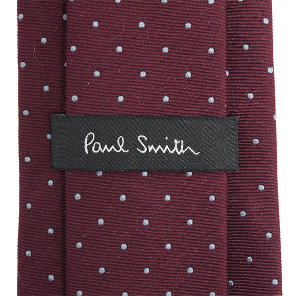 Paul Smith/Paul Smith领带葡萄红×淡蓝色点AHXA 552M S69 D MEN TIE 8CM BLADE PAUL SMITH porusumisu