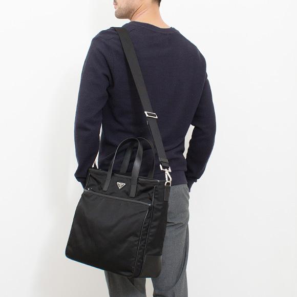 プラダ PRADA バッグ メンズ 2WAYトートバッグ ブラック 黒 SHOPPING BAG MEDIUM 2VG032 064 F0002 NERO 【A4】
