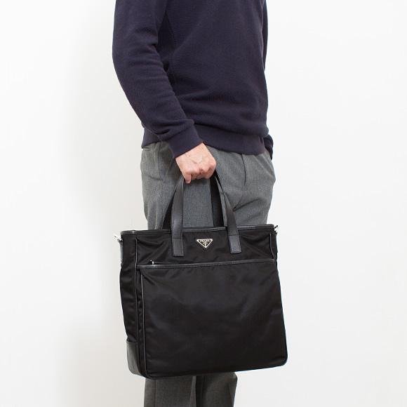 8a9052fed0ac89 ... Prada PRADA mens 2WAY Tote / shoulder bag A4 black SHOPPING 2VG032 064  F0002 NERO ...