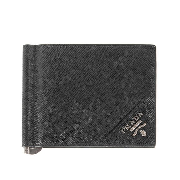プラダ PRADA メンズ 財布 二つ折り財布(マネークリップ) ブラック 黒 BILLFOLD 2MN077 QME F0002 NERO
