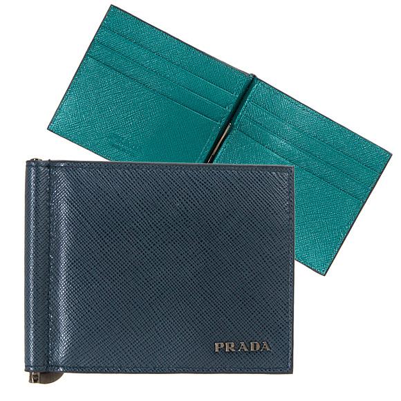 プラダ PRADA 財布 メンズ 二つ折り財布(マネークリップ) バルティックブルー PORTAF.A MOLLA 2MN077 C5S F0PVW BALTICO+OTTANIO