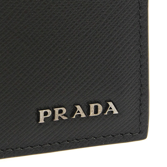 fe42874a27c044 Prada PRADA wallet men folio wallet black / バルティックブルー PORTAF. ORIZZONTALE  2MO513 C5S F0G52 NERO+BALTICO