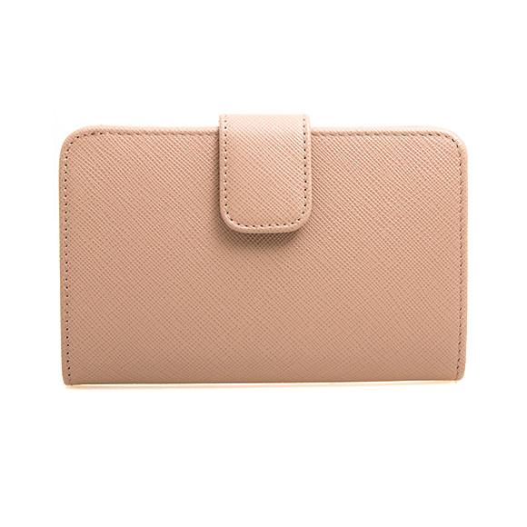 Prada PRADA wallet Lady s folio wallet pink beige PORTAFOGLIO LAMPO 1ML225  QWA F0236 CIPRIA 2c0f0aba02