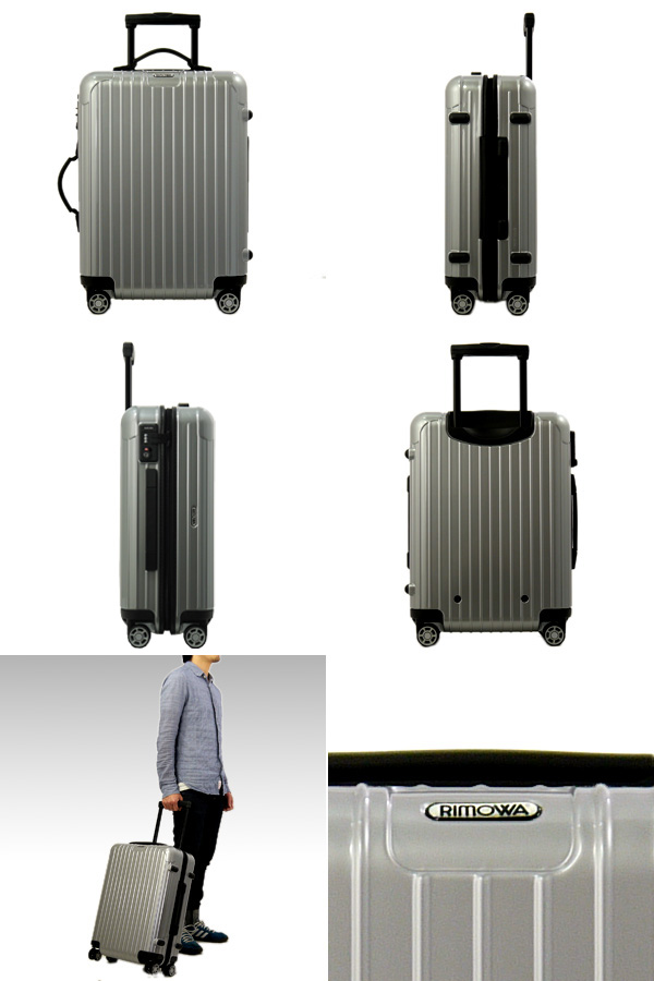 876.52 RIMOWA/ リモワサルサスーツケース SALSA [salsa] (carry On Size 30L In The Plane)  Four Wheeled Chiho Malle Eel Silver SALSA Cabin Multiwheel IATA ...