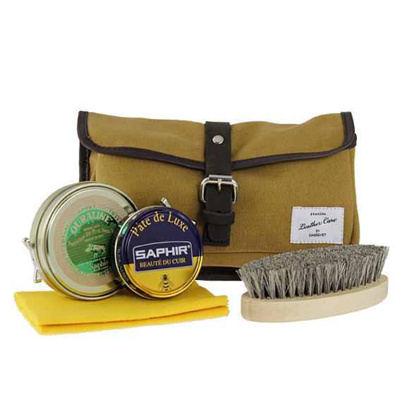 산드크비스트 SANDQVIST 레더 케어 킷 GRANDPA LEATHER CARE KIT SQA305 KHAKI