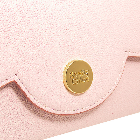 629281c607 Sea by Kuroe SEE BY CHLOE wallet Lady's long wallets mousse pink POLINA  LONG WALLET WITH FLAP CHS18UP786 388 6F2 SMOOTH PINK