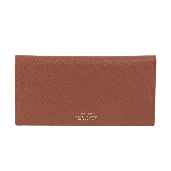 Smythson SMYTHON mens wallets wallets Slim coat wallet Cognac Brown 1012821 COGNAC