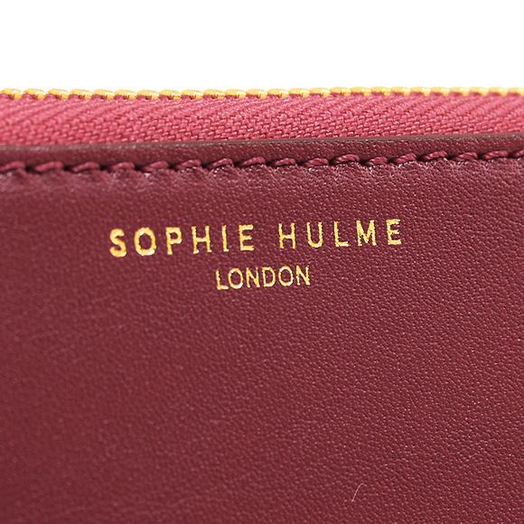 休姆苏菲休钱包女士拉链钱夹长金脊柱 2 颜色黑色和深红色 BG035LE 黑色/深红色