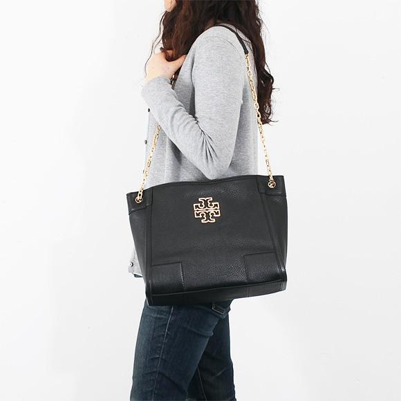 Tory Burch TORY BURCH bags ladies tote bag BRITTEN SMALL SLOUCHY TOTE black 31159877 001 BLACK