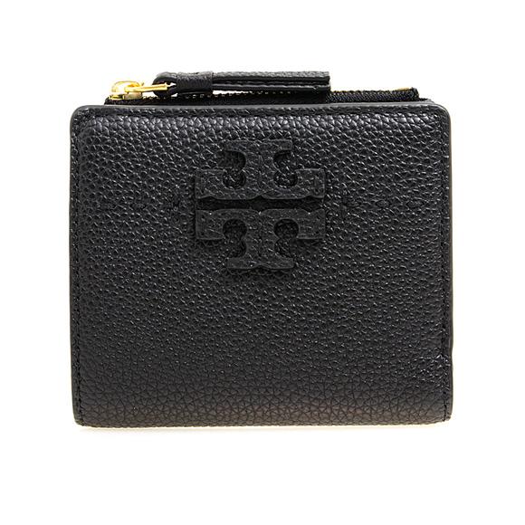 トリーバーチ TORY BURCH 財布 レディース 二つ折り財布 ミニ財布 ブラック MCGRAW MINI FOLDABLE WALLET 54696 001 BLACK