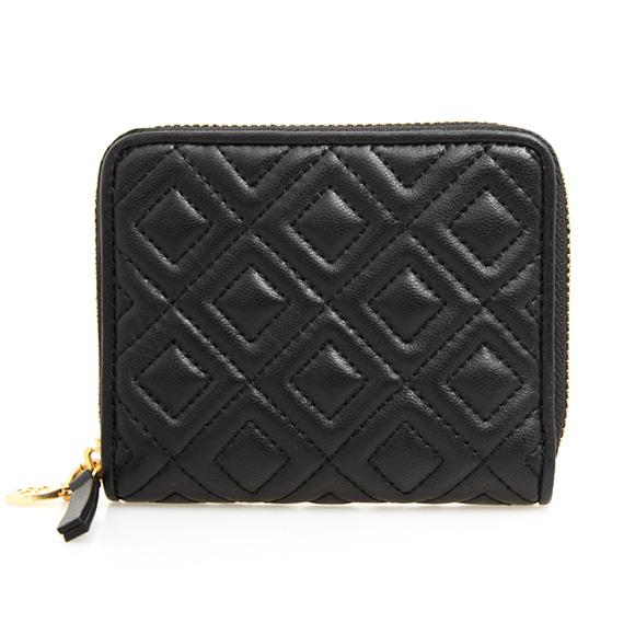 44e0bc91fff ChelseaGardensUK  Tolly Birch TORY BURCH wallet Lady s round fastener folio  wallet mini-wallet black FLEMING MEDIUM WALLET 43558 001 BLACK