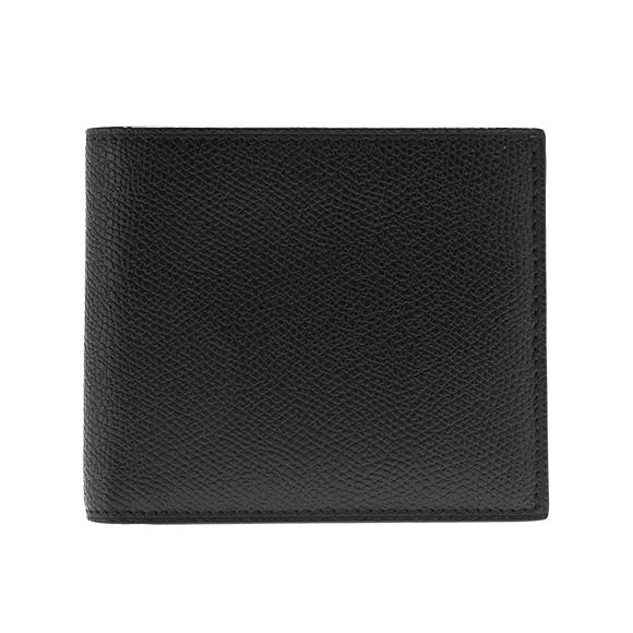 ヴァレクストラ VALEXTRA 財布 メンズ 二つ折り財布 ブラック 黒 SIMPLE WALLET V8L04 028 N BLACK