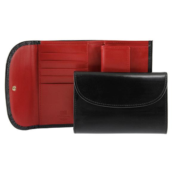 ホワイトハウスコックス WHITEHOUSE COX 財布 三つ折り財布(小銭入れ付) ブラック 黒 / レッド FOLD WALLET S7660 BLACK/RED【英国】