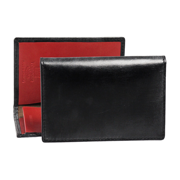 ホワイトハウスコックス WHITEHOUSE COX メンズ 名刺入れ(カードケース) ブラック/レッド NAME CARD CASE S7412 BLACK/RED【英国】