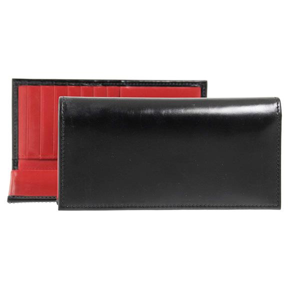 ホワイトハウスコックス WHITEHOUSE COX 財布 メンズ 長財布(小銭入れ付) ブラック/レッド LONG WALLET S9697 BLACK/RED (JP)【英国】