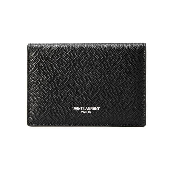 サンローランパリ SAINT LAURENT PARIS メンズ 名刺入れ(カードケース) ブラック 黒 CLASSIC BUSINESS CARD CASE 469338 BTY7N 1000 BLACK YVES SAINT LAURENT