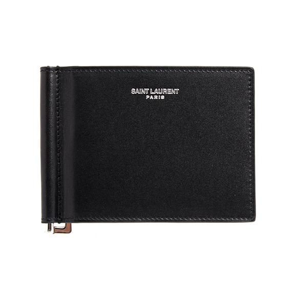 サンローラン パリ SAINT LAURENT PARIS 財布 メンズ 二つ折り財布(マネークリップ) ブラック 黒 WALLET WITH BILL CLIP 378005 0U90N 1000 BLACK