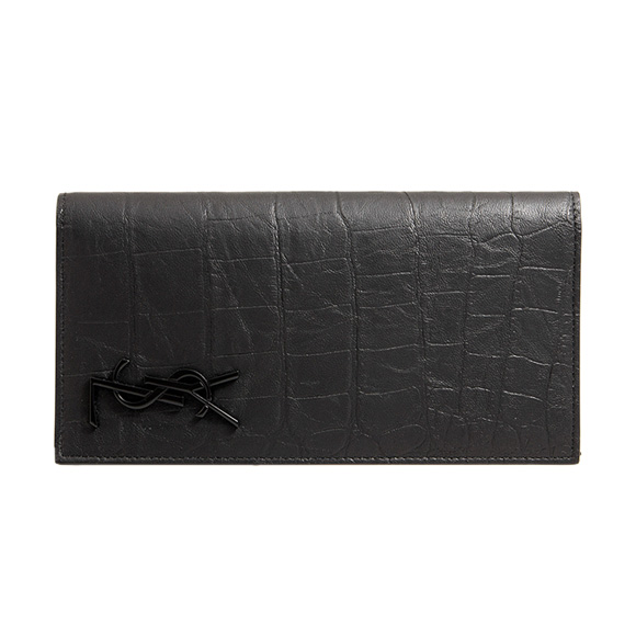 サンローラン パリ SAINT LAURENT PARIS 財布 メンズ 長財布 ブラック CONTINENTAL WALLET 529981 C9H0U 1000 BLACK