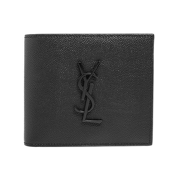 サンローラン パリ SAINT LAURENT PARIS 財布 メンズ 二つ折り財布 ブラック MONOGRAM EAST/WEST WALLET PCC(127Y) 453276 BTY0U 1000 BLACK