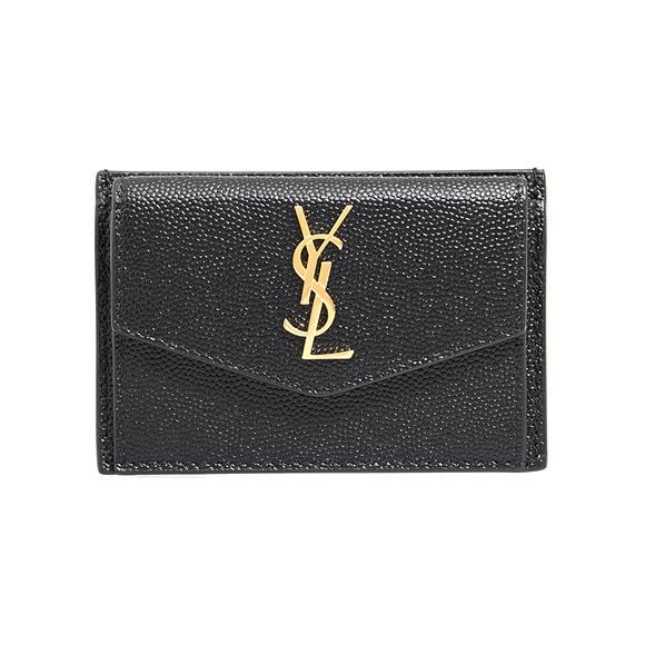 サンローラン パリ SAINT LAURENT PARIS 財布 レディース カードケース/コインケース ブラック UPTOWN CARD CASE [アップタウン] 582305 1GF0J 1000 BLACK