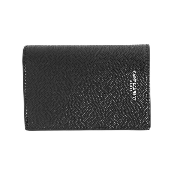 サンローラン パリ SAINT LAURENT PARIS 財布 メンズ 二つ折り財布 ブラック CREDIT CARD WALLET 607051 BTY0N 1000 BLACK