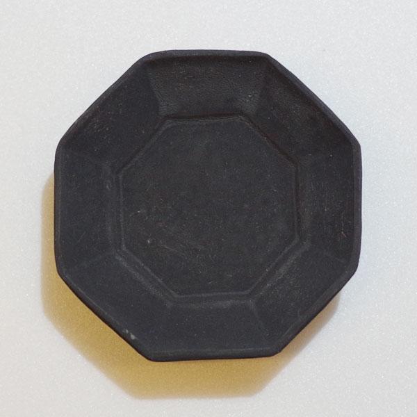 철 유 8 각형 콩 접시 간장 접시 カトウヨシタカ