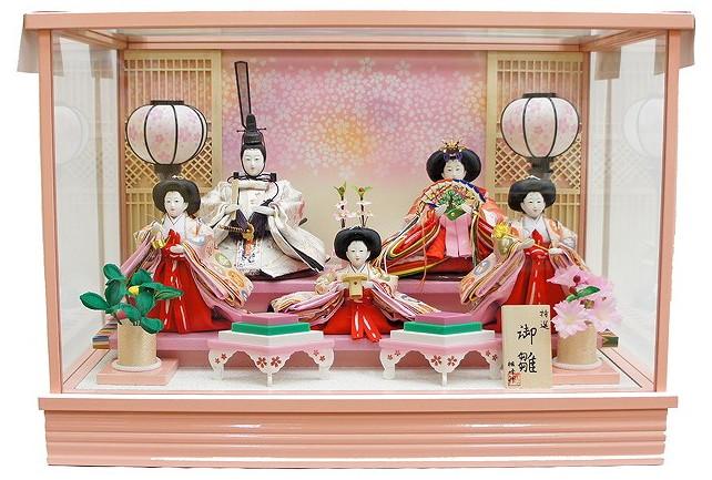 新しいブランド 雛人形 雛人形 ケース飾り 五人 No.334 No.334 五人 五人飾りピンク/ひな人形, 共榮水産:6c0ffa52 --- canoncity.azurewebsites.net