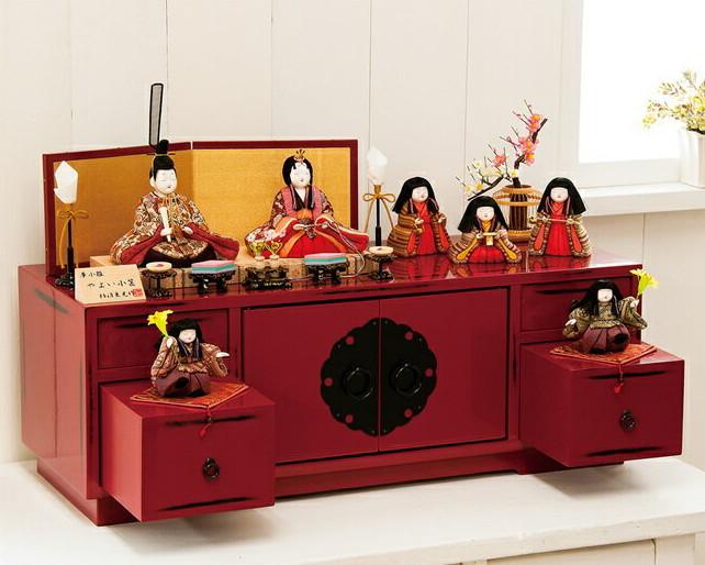 雛人形 柿沼東光 収納飾り やよい小筺 木目込み ひな人形 317517