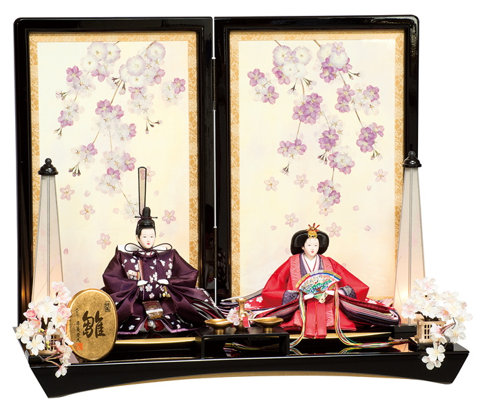 雛人形 平安豊久 親王飾り 桜ひかり ひな人形 304910